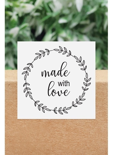 Funbou Sticker, Made With Love / 10 Sayfa Beyaz